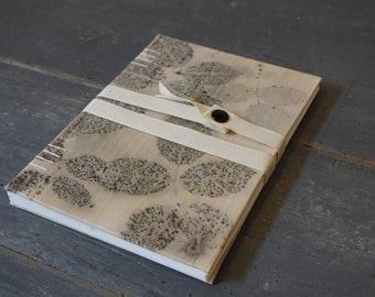 Botanical # 5-Coptic fabric Journal M.Y. Garden
