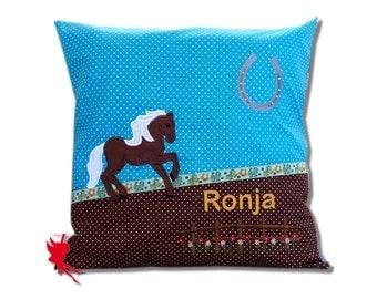 Horse pillow Horse Cushion Cuddly Cushion with name
