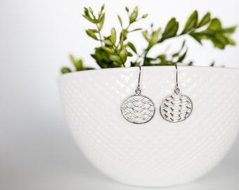 Silver Fishtail Earrings, Silver Mermaid Earrings, Ocean Jewelry, Beach Jewelry, Beach Earrings, Gifts for Mermaid Lovers, Casual Earrings