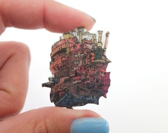 Howl's moving castle brooch