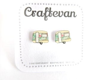 Floral caravan earrings