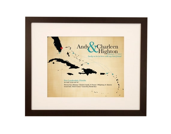 Wedding Gifts For Couples Who Travel : ... map, destination wedding sign, gift for couple, anniversary travel