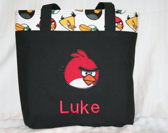 Personalized Angry Birds Tote Bag