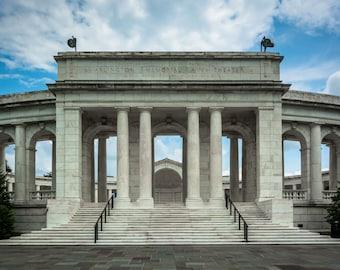 The Arlington Memorial Amphitheater at Arlington National Cemetery, in Arlington, Virginia. | Photo Print, Stretched Canvas, or Metal Print.