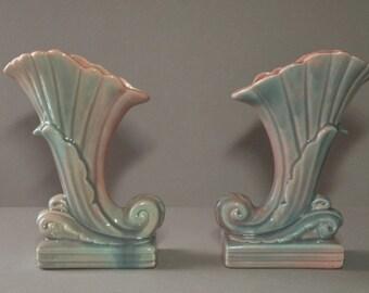 Aqua & Pink Vase Set