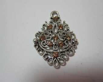 Swarovski Topaz Crystal Pendant