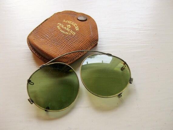 Vintage American Polaroid Day Glasses. 1920s. Vintage sunglasses.