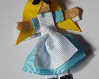 Alice - Alice in Wonderland Inspired 3D Hair Bow Clip