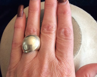 Vintage Sterling Silver Large Chunky Ring Sz. 6