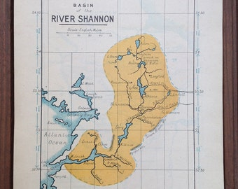 Map of the River Shannon