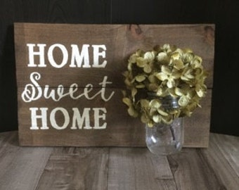 Home Sweet Home Wall Vase