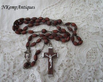 Wooden rosary 1930's