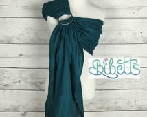 Summer Ring Sling / Pure Linen Baby Ring Sling Carrier- Teal