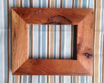 Custom 5x7 Oak Wood Picture Frame