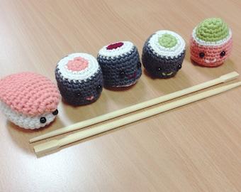 Amigurumi Sushi: Maki and Niguiri