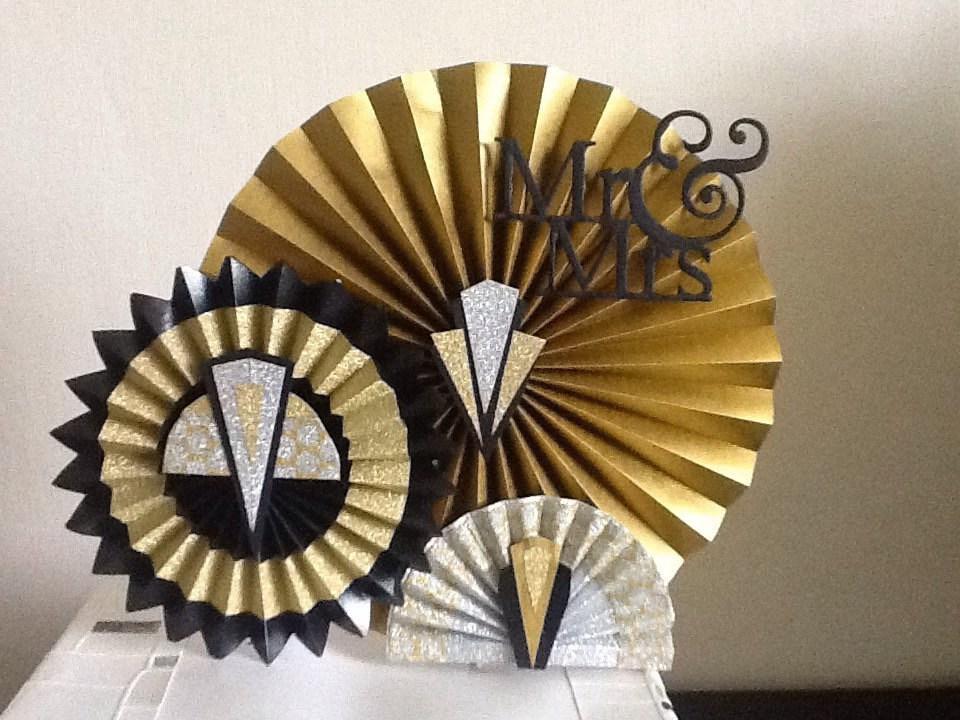 Art Deco Wedding Cake Topper Uk : Mr and Mrs art deco inspired paper Wedding Cake topper