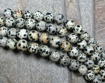 Dalmatian Jasper Beads, 10 mm - Full strand - Item B0164