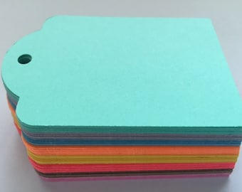 20 Large Gift Tags in Mint Green or the Color(s) of Your Choice ~ Wedding Tags, Packaging, Home Organization