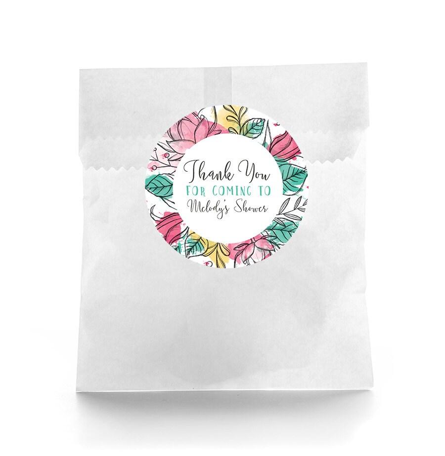 Floral Baby Shower Favors ~ Floral baby shower favor labels