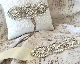 Items Similar To Romantic Bridal Sash Dusty Pink Blush