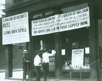 Liquor Store, Going out of Business Sale  , Bar Decor , Prohibition Era America Photo Print
