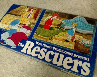 The Rescuer's Disney VINTAGE BOARD GAME! 1970's complete game in Original box all pieces included and in good shape!