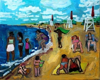 Beach Oil Painting (Beach Painting)