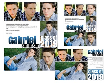 Seniors Yearbook Ads Templates - Gabriel