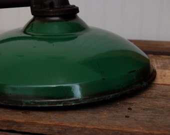 Green Enamel Light - Jackson/Green/Warehouse/Gas Station/Farm/Pendant Light/Rustic - Petroliana
