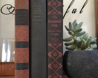 Vintage Black and Red Books