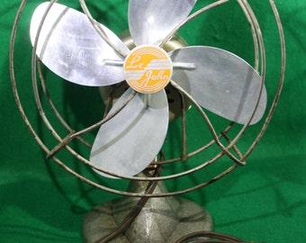 Vintage Art Deco Industrial Desktop Fan Model #801 ca. 1930's