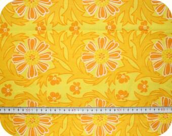 Floral retro vintage fabric - yellow and orange