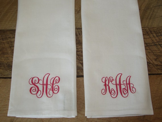 Kitchen Wedding Gifts: Items Similar To Personalized Kitchen Towel Set Of Two