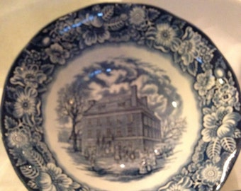 Liberty Blue Willow Serving Bowl