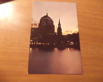 Vintage Original At Twilight Boston Mass Postcard Free Shipping