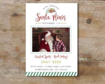 Santa mini session template - christmas mini session template - Holiday Mini Session Template - Photography Marketing Template