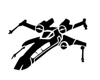 X-Wing Fighter Star Wars Decal | X-Wing Decal | Vinyl X-Wing Fighter from Star Wars Decal | Disney Decal | Star Wars Car Decal | Car Decal
