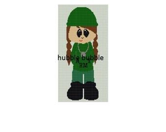 army girl crochet blanket