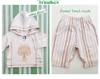 Organic Baby Set Tree of Life Hoodie + Matching Trousers