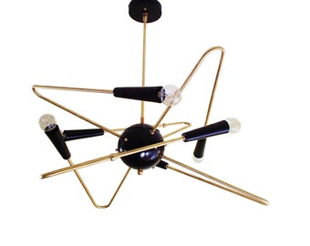 6 Arm Orbital Sputnik Ceiling Light Atomic