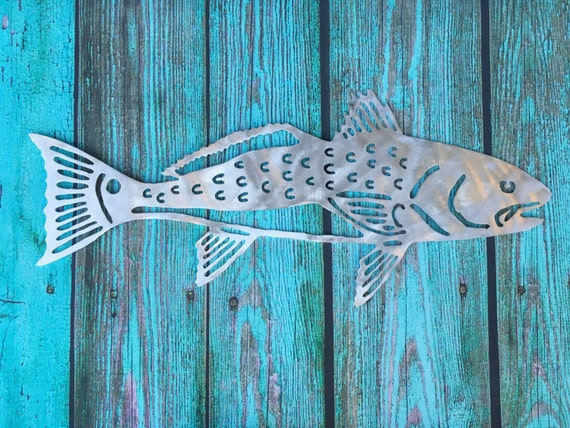 Red Metal Wall Decor: Red Fish Metal Beach Home Decor Wall Patio Garden Art