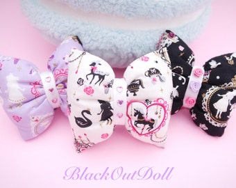 Alice In Wonderland Puffy Bow Necklaces Kawaii Decora Harajuku Fairy Kei Lolita