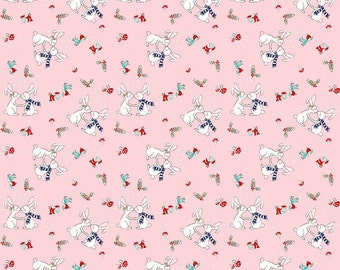 PIXIE NOEL 1 yard by Tasha Noel for Riley Blake Bunnies Pink