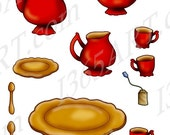 50% OFF SALE Tea Time Red...