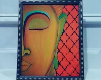 PRINT***Buddha wall art,Buddha painting,Buddha Wall Art Print Yoga Poster, Yoga painting, Buddha print,Abstract buddha print, 8x10