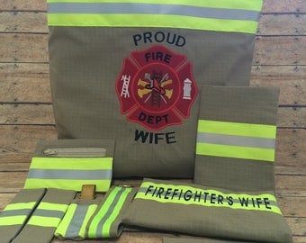 Firefighter Wife Medium Purse Ultimate Set , Purse, Wallet, and 7 matching accessories