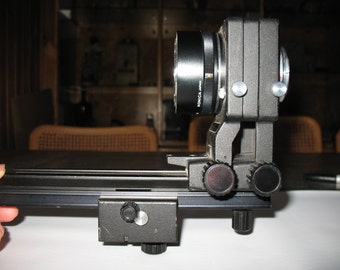 Konica Auto-Bellows AR with Focusing Rail with Konica Macro Lens Adapter AR