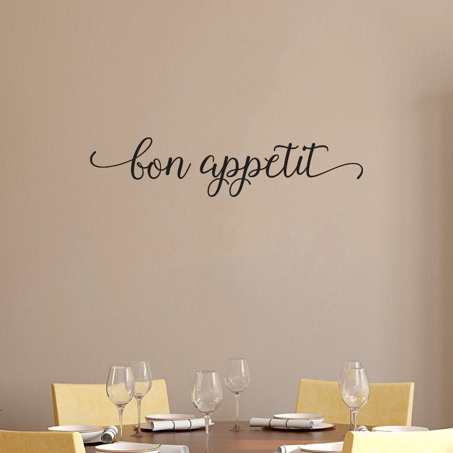 Kitchen sign bon appetit home decor wooden letters by for Kitchen letters decoration