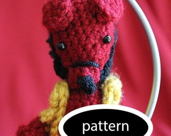 Pattern for Hellboy Ornament - Hellboy Only