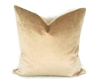 Light Gold Velvet Pillow Cover